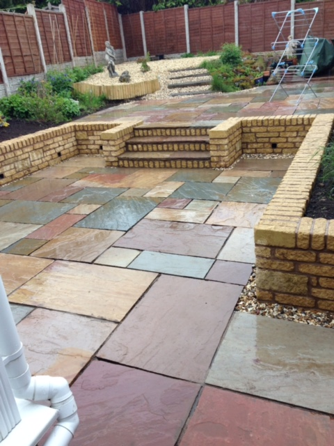 Laying patio