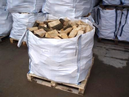 Builders bags of seasoned logs for sale
