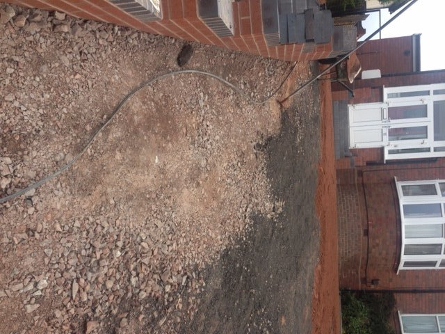 Block paved area prepared