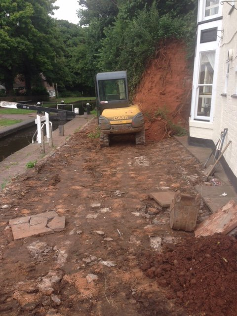 Area prepared for block paving