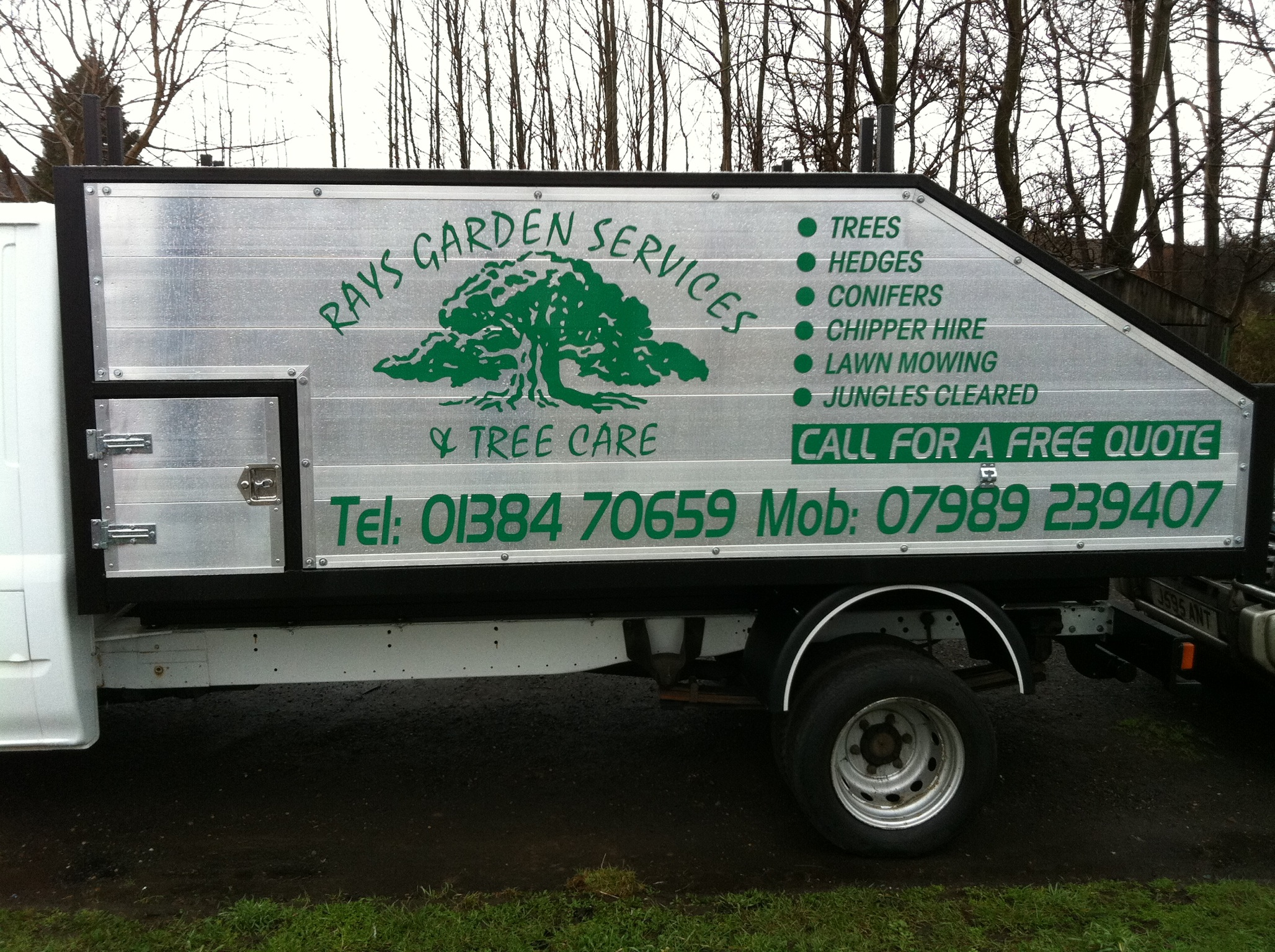 Rays garden services and tree care for Garden maintenance van